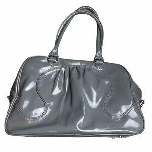 LULULEMON Vintage Gray Shiny Gym Duffel Bag